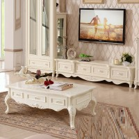 TV cabinet with coffee table combination for living room furniture