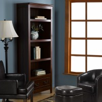 Solid wood bookcase storage cabinet display for Office