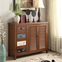 Rural Style Wooden Cabinet Shoescase