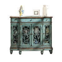 Countryside style vintage cabinet Hollow Door side cabinet