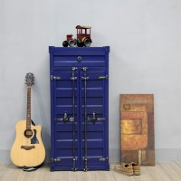 Creative shipping container style cabinet shoescase
