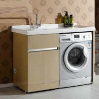 Modern stainless steel balcony washing machine with washboard pool cabinet combination