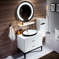 Solid Wood Bathroom Cabinet Combination Of Modern Simple Style