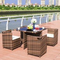 Outdoor Furniture Wicker Chairs and Table