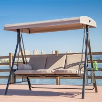 Outdoor Swing Rocking Loveseat Chair in alloy