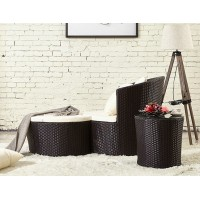 Rattan Creative Lounge Chair With Ottoman and Tea Table