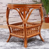 Rattan balcony tea table
