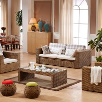 Rattan sofa bed with folding function