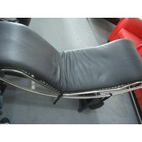 Le Corbusier LC4 Chaise Lounge Chair Cushion and Strap in Cowhide Leather