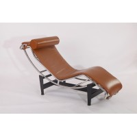 Le Corbusier LC4 Chaise Lounge Chair Cushion and Strap in Full Grain Leather