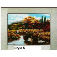 Embroidery painting of landscape
