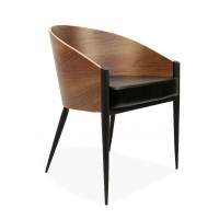 King Costes Coffee Chair,PU or Real Leather of Various colors with legs in Black or Silver