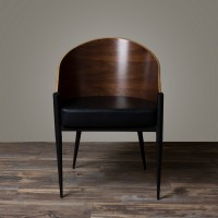 King Costes Coffee Chair with Chromed Legs