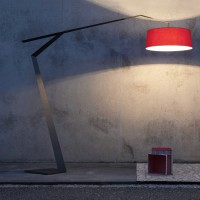 Arco Iron and Fabric Floor Lamp