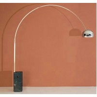 Arco Lamp with rectangular Black marble base-Medium size