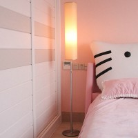 Creative Nordic remote control LED bedside floor lamp