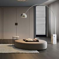 Creative human type fabric floor lamp