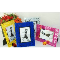 Colorful crystal photo frame