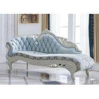 Fabric lounge chaise sofa
