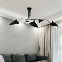 Serge Mouille Style Six Arm Ceiling Lamp Reproduction Lightings