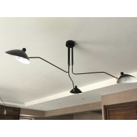 Serge Mouille Style Three Arm Ceiling Lamp Reproduction Lightings