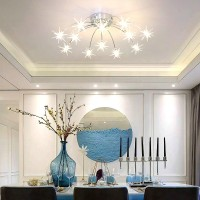 12 Heads Creative Stars Style Stainless Steel Ceiling Lamp