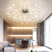 Creative stars style stainless steel ceiling lamp