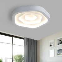Romantic flower remote control dimming LED ceiling lamp