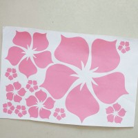 Big flower style wall sticker