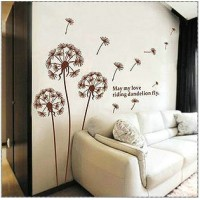 Dandelion background wall sticker