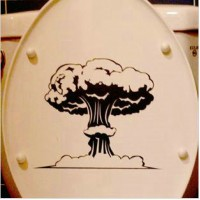 Mushroom cloud Toilet sticker