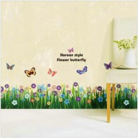 Butterfly style wall sticker