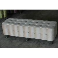 Fabric ottoman of Large size