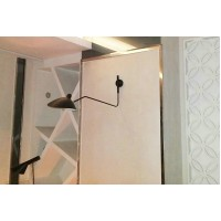 Serge Mouille Style Single-Arm Wall Lamp