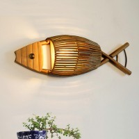 Bamboo Fish Wall Lamp