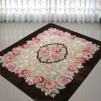 Rose soft fabric carpet