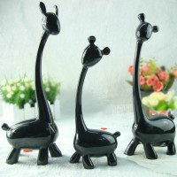 Resin deers decorative display article
