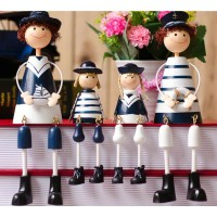 Steel sailor decorative display article
