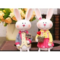 Rabbits decorative display article