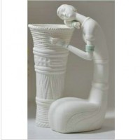 Ceramics carving decorative display article