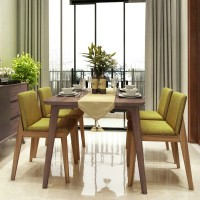 Simple modern Nordic dining table Small size 6 people Dining table