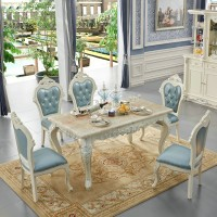 Polaroid furniture European dining table and chairs combination Solid wood