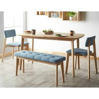 Nordic solid wood table and chairs combination of modern simple style