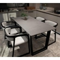 Solid wood with marble dining table combination furniture