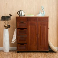 Solid wood dining table locker simple modern kitchen floor removable cabinet