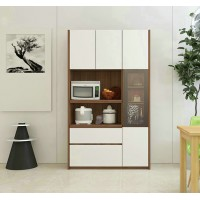 Multi-Function Kitchen Microwave Oven Cupboard Large Capacity Balcony Storage Storage High Cabinet