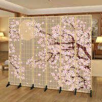 Cherry blossoms folding screen partition