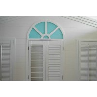 Blind style arched door