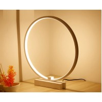 Circle desk light dimming table lamp