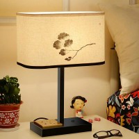 Fabric Dimming Table Lamp With Usb Rechargeable Function